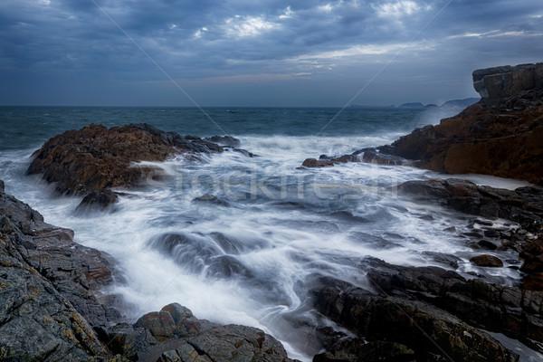 красивой тумана океана пляж воды Сток-фото © cozyta
