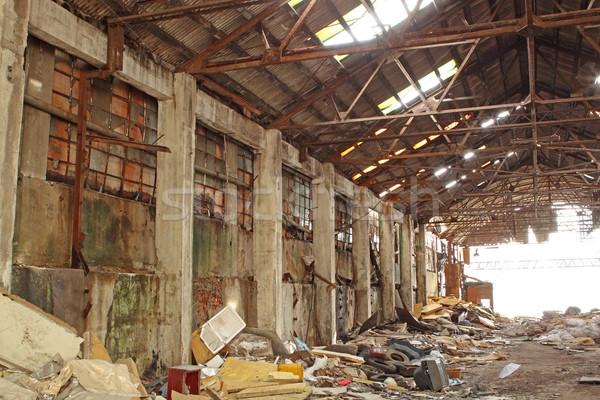 捨てられた 産業 ファーネス 空 フレーム 青 ストックフォト © cozyta
