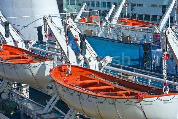 救助 ボート オレンジ 船 ヘルプ 生活 ストックフォト © cozyta