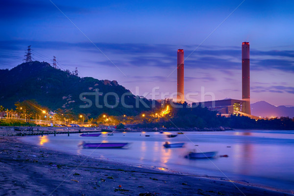 Night of Petrochemical industry  Stock photo © cozyta