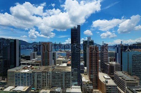 Kantoorgebouwen dag business gebouw stad oceaan Stockfoto © cozyta