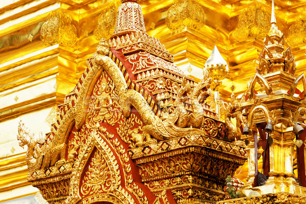 chedi luang temple in chiang mai  Stock photo © cozyta