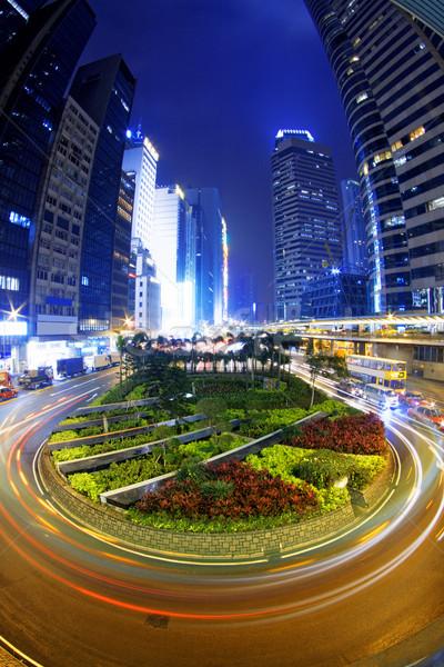 hong kong modern city High speed traffic Stock photo © cozyta