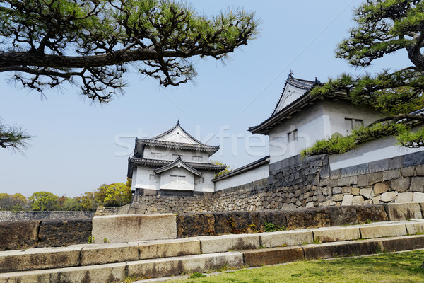 Osaka kasteel boom gebouw landschap zomer Stockfoto © cozyta