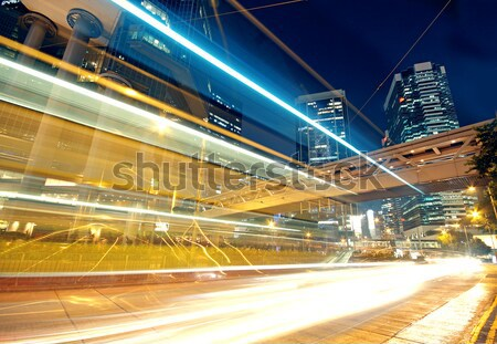 Tráfego acelerar noite estrada abstrato paisagem Foto stock © cozyta