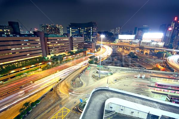 Ciudad Chicago centro de la ciudad crepúsculo alto Foto stock © cozyta