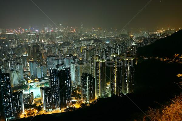 ночному городу мнение горные небе служба здании Сток-фото © cozyta