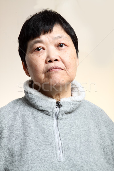 60s Senior Asian Woman  Stock photo © cozyta