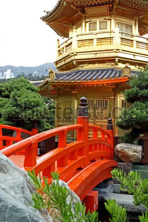 Pavilion of Absolute Perfection in the Nan Lian Garden, Hong Kon Stock photo © cozyta