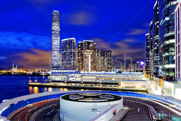 Stock photo: hong kong office buildings