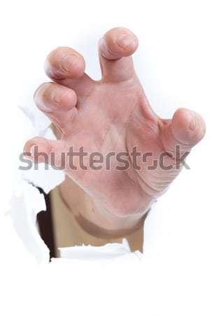 стороны сломанной бумаги знак женщины Сток-фото © cozyta