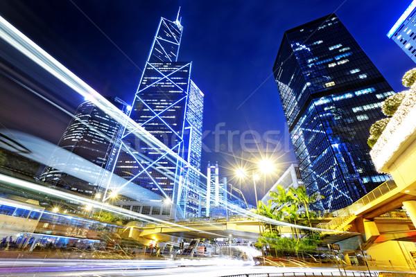 night traffic in the hong kong city  Stock photo © cozyta