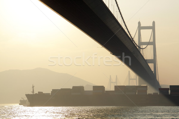 Długo most wygaśnięcia godzina niebo wody Zdjęcia stock © cozyta