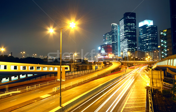 urban landscape at night and through the city traffic  Stock photo © cozyta