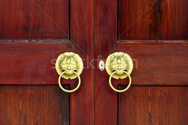 Oriental Palace's with door knocker  Stock photo © cozyta