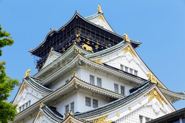 Osaka kale şehir Japonya gün ağaç Stok fotoğraf © cozyta