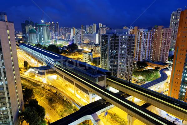 Long Ping, hong kong urban downtown at night Stock photo © cozyta
