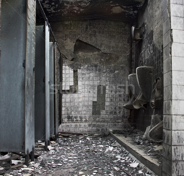 It is a toilet after fire. Stock photo © cozyta