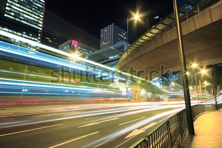 Fast moving cars at night  Stock photo © cozyta