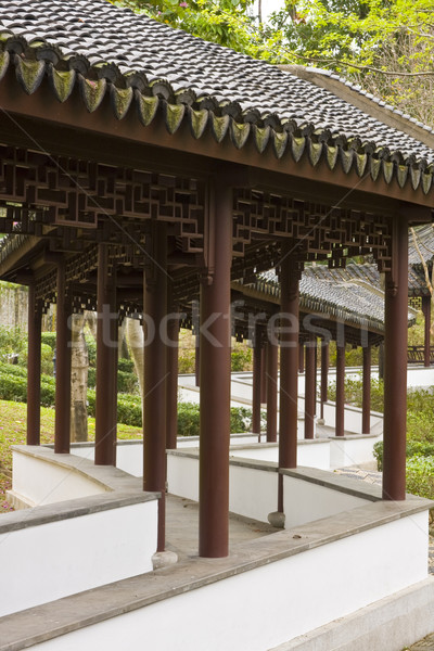 Jardim caminho asiático lata mais tempo Foto stock © cozyta
