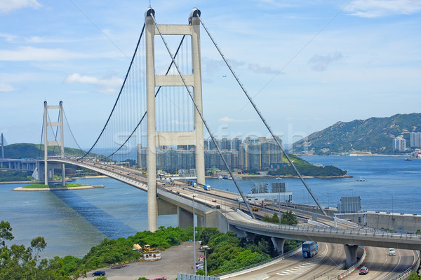 Tsing Ma Bridge, landmark bridge in Hong Kong  Stock photo © cozyta