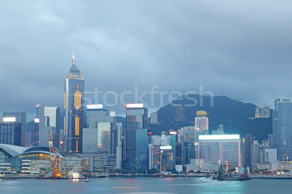 Foto stock: Magia · hora · porto · Hong · Kong · edifício · mar
