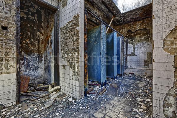 Ruínas fábrica dano velho abandonado arruinar Foto stock © cozyta