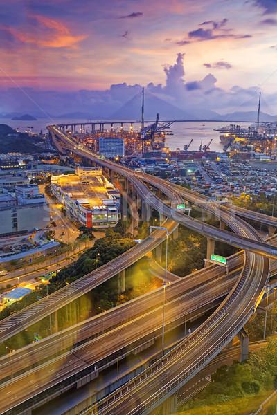 Hong Kong Stonecutters' Bridge Stock photo © cozyta