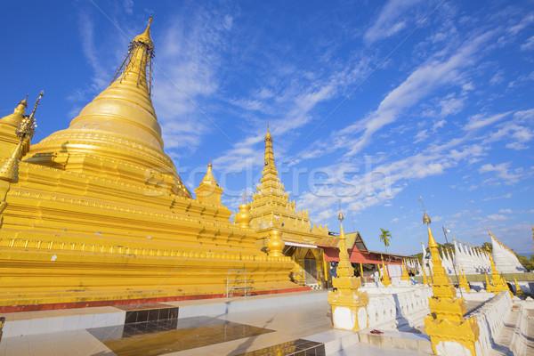 Pagoda Burma Myanmar utazás istentisztelet arany Stock fotó © cozyta