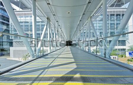 пешеходный мост двери день строительство стекла окна Сток-фото © cozyta
