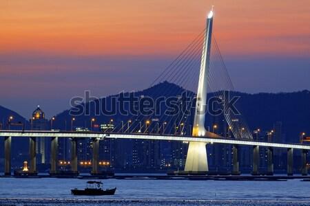 Hongkong highway bridge at day Stock photo © cozyta
