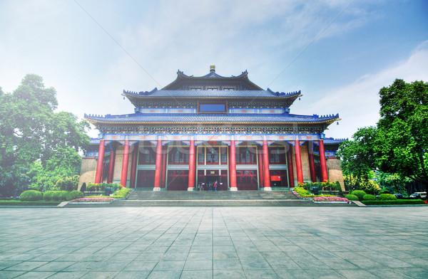 Nap előcsarnok Kína hdr kép égbolt Stock fotó © cozyta