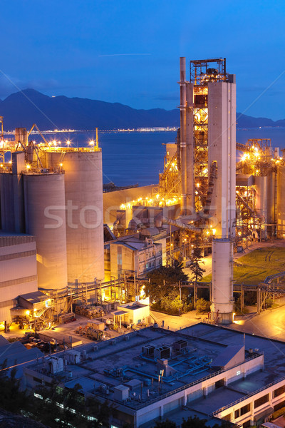 Cement Plant,Concrete or cement factory, heavy industry or const Stock photo © cozyta