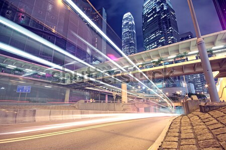 traffic in Hong Kong at night  Stock photo © cozyta