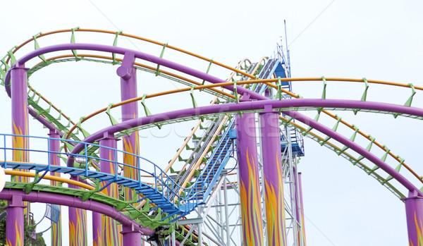 Stock photo: rollercoaster