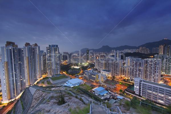 hongkong city sunset Stock photo © cozyta