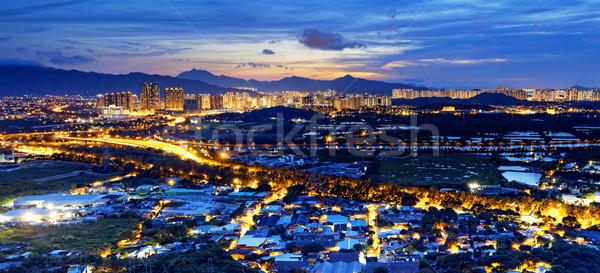 Urban downtown at sunset moment, Hong Kong Stock photo © cozyta