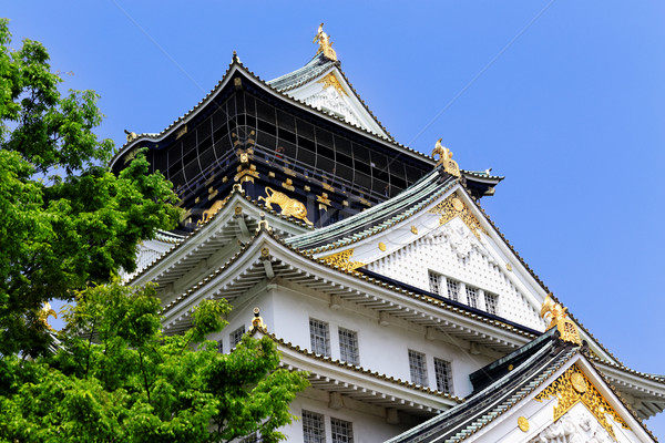 Osaka kale Japonya güzel işaret Bina Stok fotoğraf © cozyta