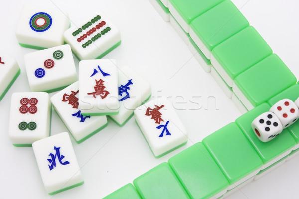 Chinese spel soortgelijk poker populair gokken Stockfoto © cozyta
