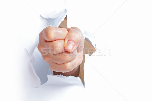 Fist from paper Stock photo © cozyta