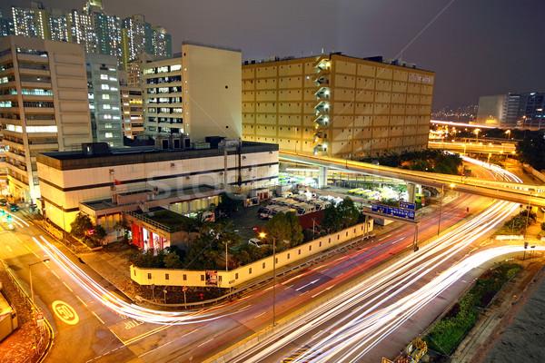 Moderne stedelijke City Night auto weg stad Stockfoto © cozyta