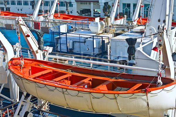 Redding boot oranje schip helpen leven Stockfoto © cozyta