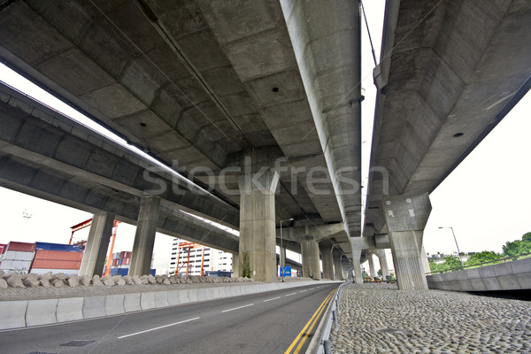 Under the bridge. Urban scene Stock photo © cozyta