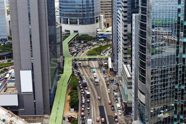 Traffic in hong kong city Stock photo © cozyta