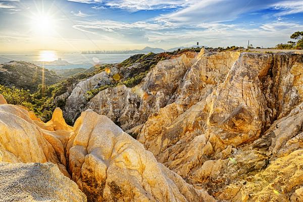 ストックフォト: グランドキャニオン · 香港 · 日没 · 太陽 · 岩 · 公園