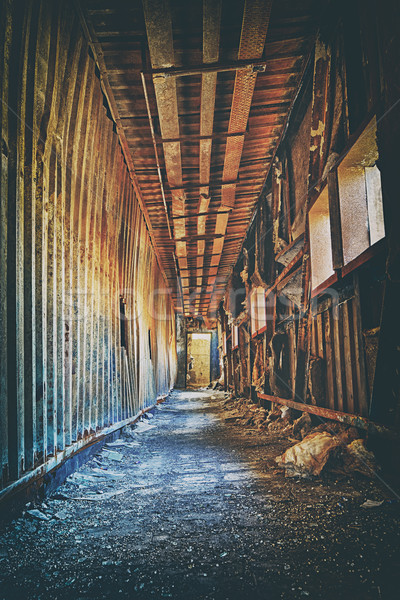 Old abandoned ruin factory damage building inside Stock photo © cozyta