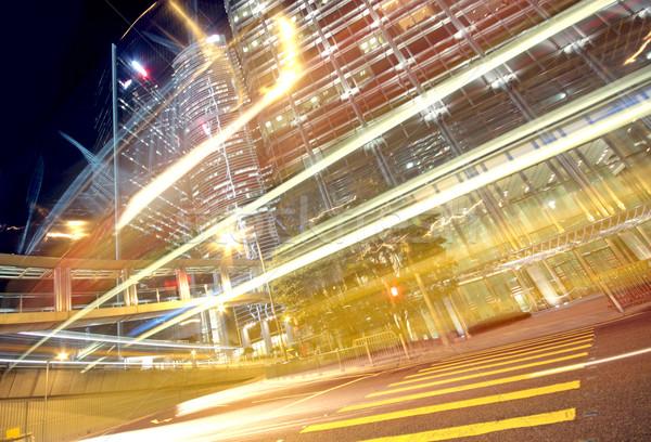 Сток-фото: движения · Финансы · городского · ночь · здании · пейзаж
