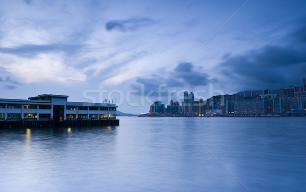 It is a morning shoot in hong kong star ferry habour Stock photo © cozyta