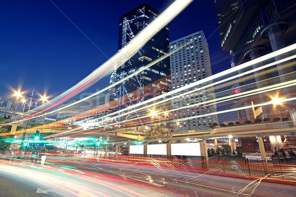 Trafik gece iş sokak imzalamak kentsel Stok fotoğraf © cozyta