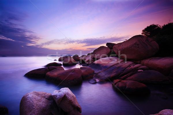 Hermosa verano puesta de sol mar agua sol Foto stock © cozyta